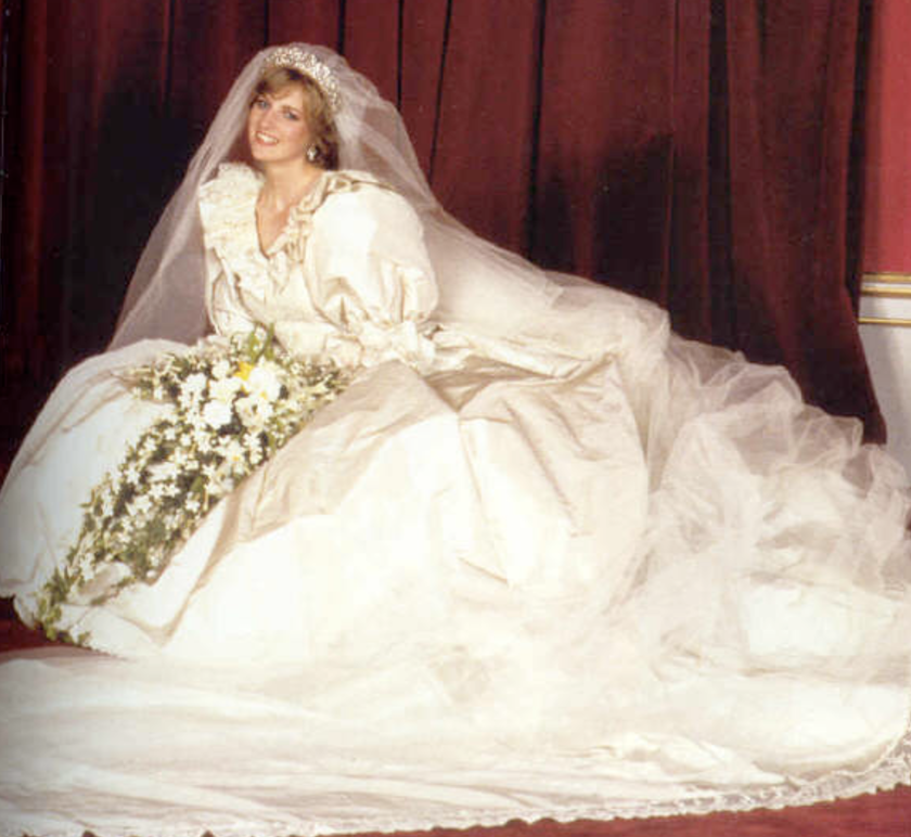 lady dianas wedding gown for her wedding to prince charles was a far cry from the sophisticated and classy style she later developed